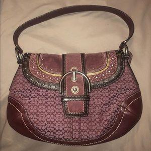 Burgundy Coach Handbag
